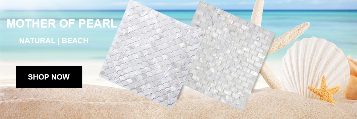 White Mother of Pearl Tile Backsplash Fish Scale Shell Mosaic