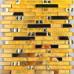 Gold Stainless Steel and Glass Backsplash Tiles Crystal Rhinestone Mosaic Metallic Tile Bathroom Wall Decor