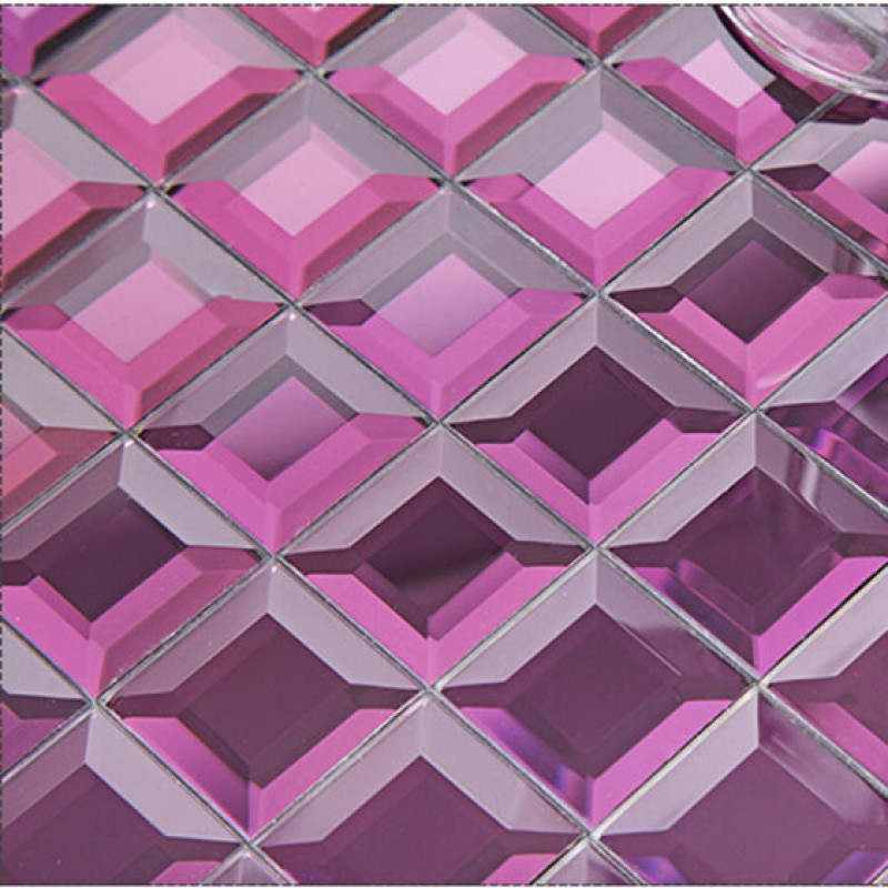 Purple Mirror Gl Backsplash Modern