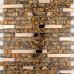 Gold Stainless Steel and Glass Backsplash Tiles Tea Crystal Rhinestone Mosaic Bathroom Metallic Tile