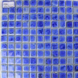 Glazed Porcelain Tiles Blue Backsplash Ideas 1 x 1 In. Ceramic Modern Tile Patterns for Bathrooms
