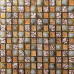 Rose Gold Crystal Backsplash Golden Glass Mosaic Resin Natural Shell Tiles Stunning Bathroom Wall & Floor Tile