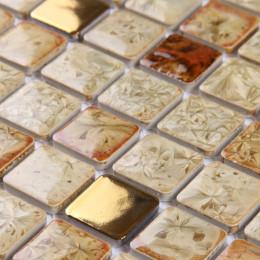 Gold Porcelain Tiles Multi-colored Kitchen Backsplash Glazed Ceramic Modern Tile for Bathrooms