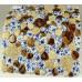 Blue / White / Beige / Brown Porcelain Pebble Tile Glossy Ceramic Mosaic Floor Bathroom Tiles