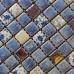 Blue and White Tile Gold Coated Ceramic Porcelain Mosaic Backsplash Kitchen and Bathroom Wall Tiles