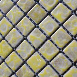 Yellow Porcelain Tile Mosaic Glazed Ceramic Bathroom Wall and Floor Tiles Kitchen Backsplash