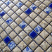 Blue and White Porcelain Tile Bathroom Mosaic Gray Ceramic Wall and Floor Tile Kitchen Backsplash