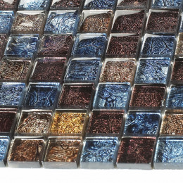 Antique Glass Mosaic Tile Multi Colored Crystal Backsplash Tile for Kitchen Glossy Accent Bathroom Tiles