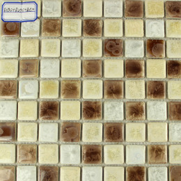 Beige / Brown / White Porcelain Tile Mosaic Glazed Ceramic Wall and Floor Tile Kitchen Backsplash