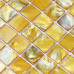 Gold Mother of Pearl Tile Stained Shell Mosaic for Kitchen Backsplash Bathroom Shower Wall Tiles