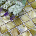 Yellow Gray Mother of Pearl Tile Stained Shell Mosaic for Kitchen Backsplash Bathroom Shower Wall Tiles