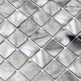 Gray Mother of Pearl Tile Stained Shell Mosaic for Kitchen Backsplash Bathroom Shower Wall Tiles