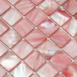 Pink Mother of Pearl Tile Stained Shell Mosaic for Kitchen Backsplash Bathroom Shower Wall Tiles