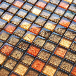 Glossy Glass Mosaic Backsplash Tile Patterns for Bathroom and Kitchen Crystal Wall Tiles