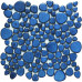 Blue Porcelain Pebble Tile Heart-shaped Ceramic Mosaic Backsplash Glazed Floor Tile Pebbles