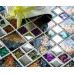 Multicolored Crystal Tile Backsplash Silver Coated Glass Mosaic for Kitchen or Bathroom