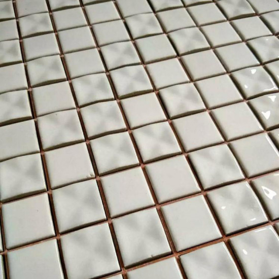 White Gray Ceramic Mosaic 3D Pinwheel Porcelain Tile Backsplash Bath Shower Floor and Wall Tiles