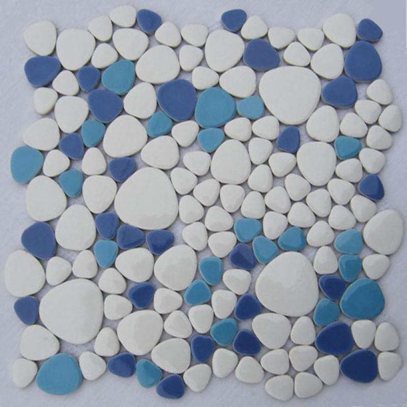 White Aqua Blue Baby Porcelain