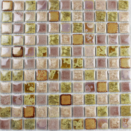 Maroon and Green Porcelain Tiles Kitchen Backsplash Glazed Ceramic Modern Tile for Bathrooms