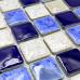 Blue and White Porcelain Floor Tile Glazed Ceramic Mosaic Tiles Beach Inspired Backsplash Shower Wall Tiles