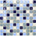 Blue and White Porcelain Floor Tile Glazed Ceramic Mosaic Tiles Beach Inspired Backsplash Shower Wall Tiles