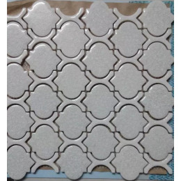 Gray Ceramic Mosaic Glossy Porcelain Arabesque Tile Backsplash Bath Shower Floor and Wall Tiles