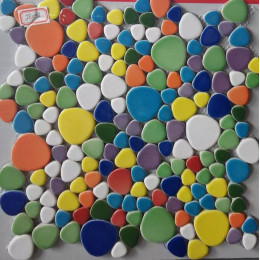 Multicolored Ceramic Mosaic Porcelain Pebble Tile Backsplash Bath Shower Floor and Wall Tiles