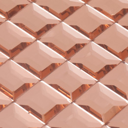 Pink Mirror Glass Backsplash Modern 3d Crystal Tile Bathroom Mirrored Wall Tiles 5 Side Pyramid Designs