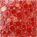 Red Penny Round Tile Backsplash Irregular Granule Small Glass Mosaic Bathroom Wall and Floor Tiles