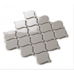 Gray Ceramic Mosaic Waterjet Tile Lantern Arabesque Porcelain Backsplash Wall and Floor Tiles