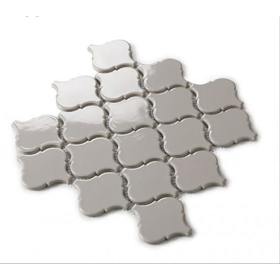Gray Ceramic Mosaic Waterjet Tile Lantern Arabesque Porcelain Backsplash Wall and Floor Tiles