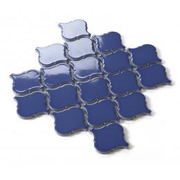 Dark Blue Ceramic Mosaic Waterjet Tile Lantern Arabesque Porcelain Backsplash Wall and Floor Tiles