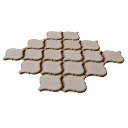 Brown Ceramic Mosaic Waterjet Tile Lantern Arabesque Porcelain Backsplash Wall and Floor Tiles