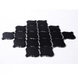 Black Ceramic Mosaic Waterjet Tile Lantern Arabesque Porcelain Backsplash Wall and Floor Tiles