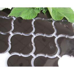 Brown Ceramic Mosaic Waterjet Porcelain Arabesque Tile Backsplash Bath Shower Wall Tiles