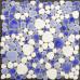 Blue and White Pebbles Ceramic Mosaic Glazed Porcelain Pebble Tile Fireplace Wall Backsplash Tiles