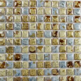 Blue and Yellow Green Porcelain Tiles Kitchen Backsplash Glazed Ceramic Modern Tile for Bathrooms