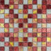 Red White and Gold Glass Mosaic Tile Kitchen Backsplash Clear Crystal Bathroom Wall Tiles