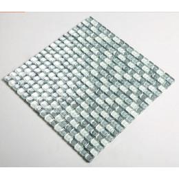 Gray Blue Glass Mosaic Wall Tile Glossy Crystal Backsplash Kitchen Bathroom Shower Floor Tiles