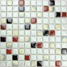 White / Red / Beige Porcelain Tiles Kitchen Backsplash Glazed Ceramic Modern Tile for Bathrooms