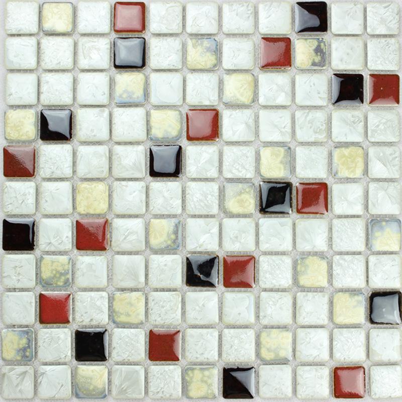 White Red Beige Porcelain Tiles Kitchen Backsplash Glazed Ceramic Fifyh Com