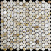 "Natural Mother of Pearl Tile Penny Round Shell Mosaic Backsplash Kitchen Bathroom Wall Tiles (Tile Size: 4/5"" x 4/5"" x 1/12"")"