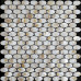 "Natural Mother of Pearl Tile Backsplash Oval Shell Mosaic Kitchen and Bathroom Wall Tiles (Tile Size: 11/16"" x 1-1/4"" x 1/12"")"