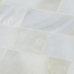"White Mother of Pearl Tile Backsplash Subway Shell Mosaic Seamless Bathroom Wall Tiles (Tile Size: 3/5"" x 4/5"" x 1/12"")"
