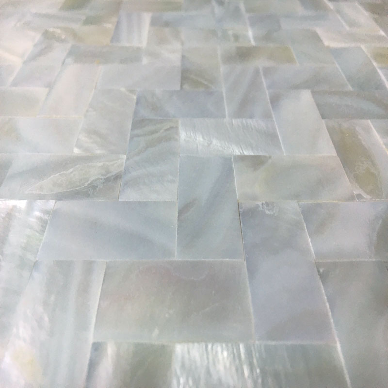 White Mother Of Pearl Tile Backsplash