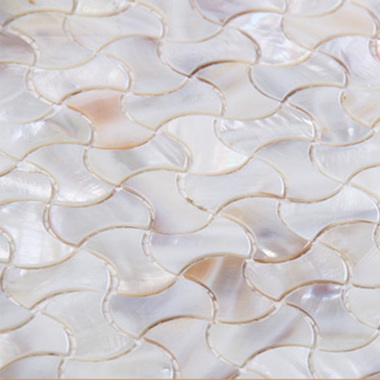Natural Mother of Pearl Tile Backsplash Waistline Shell Mosaic Kitchen and Bathroom Wall Tiles