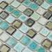 Blue and Brown Porcelain Mosaic Glazed Ceramic Tile Backsplash Bathroom Shower Wall Tiles