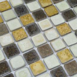 Yellow / Brown / White Porcelain Mosaic Glazed Ceramic Tile Italian Bathroom and Kitchen Backsplash