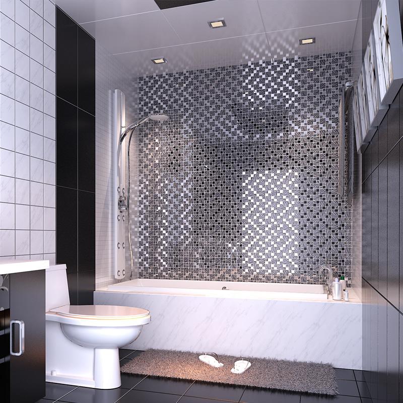 Backsplash Wall Tiles Black Gl