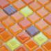 Orange Glass Tile Kitchen Backsplash Thin Crystal Mosaic Floor Tiles Glam Bathroom Decor